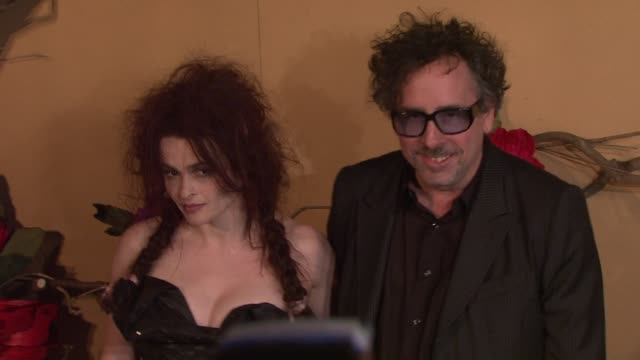 Helena Bonham Carter and Tim Burton at the MoMA's Second Annual Film Benefit Honoring Tim Burton at New York NY