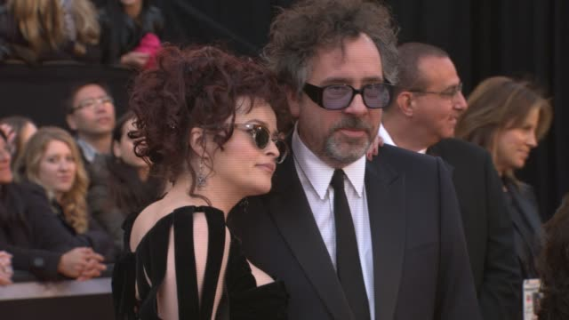 Helena Bonham Carter Tim Burton at the 83rd Annual Academy Awards Arrivals Pool Cam at Hollywood CA