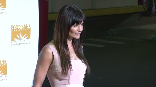helena christensen at the food bank for new york city's 25th anniversary and 5th annual can-do awards dinner at abigail kirsch's pier sixty at... - chelsea piers stock videos & royalty-free footage