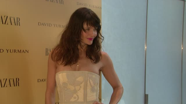 helena christensen at the harper's bazaar celebrates peter lindbergh and holly fisher's new film everywhere at once at borough of manhattan community... - community college stock videos & royalty-free footage