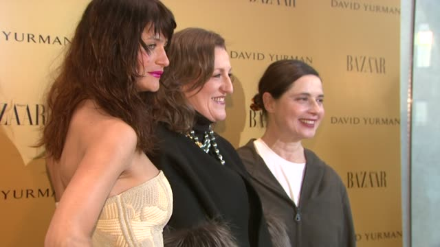"helena christensen, glenda bailey, and isabella rossellini at the harper's bazaar celebrates peter lindbergh and holly fisher's new film ""everywhere... - community college stock videos & royalty-free footage"