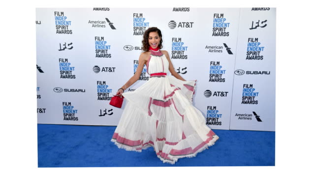 helena howard attends the 2019 film independent spirit awards on february 23 2019 in santa monica california - film independent spirit awards stock videos & royalty-free footage