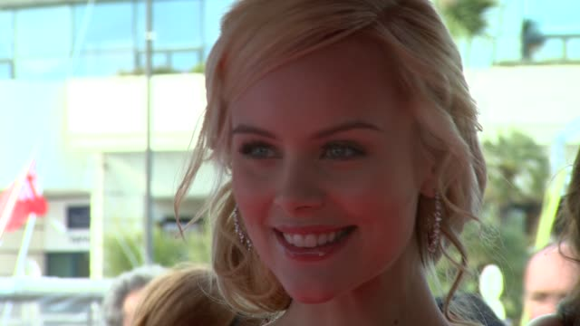 helena mattsson at the moomins and the comet chase launch: cannes film festival 2010 at cannes . - 彗星点の映像素材/bロール
