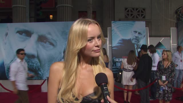 helena mattsson on her role in the film on how she's feeling about tonight's world premier of the film on what attracted her to this role and on... - bruce willis stock videos and b-roll footage