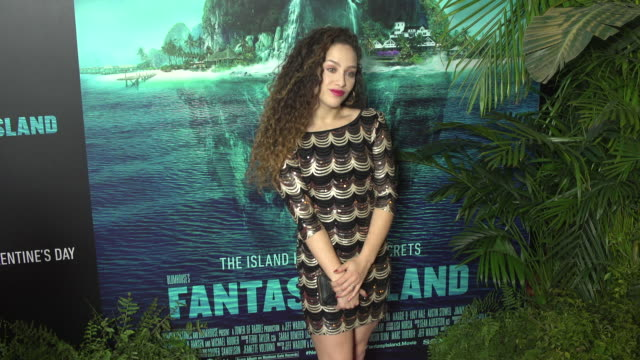helene b at the blumhouse's fantasy island premiere at amc century city 15 theater on february 10 2020 in century city california - century city stock videos & royalty-free footage