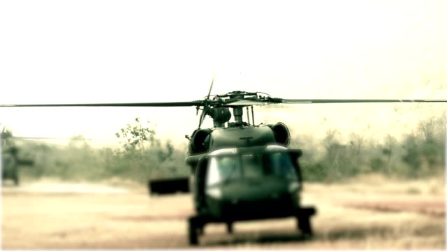 helicopter black hawk down - helicopter landing stock videos & royalty-free footage