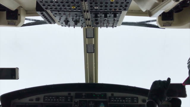 helicopter cockpit views flying over sky - pilot stock videos & royalty-free footage