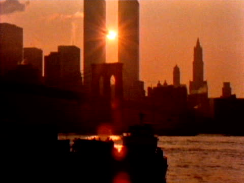 helicopter flies past world trade center - september 11 2001 attacks stock videos and b-roll footage