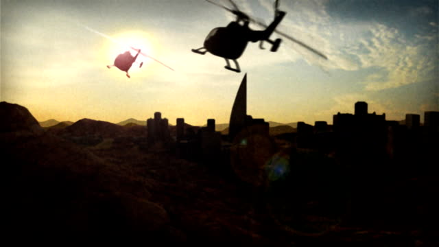 helicopter fly by - pursuit concept stock videos & royalty-free footage