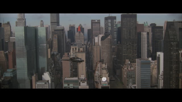 air to air, helicopter flying over manhattan, new york city, new york, usa - air to air shot stock videos & royalty-free footage