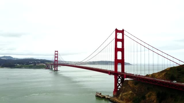 4K helicopter footage of the golden gate bridge