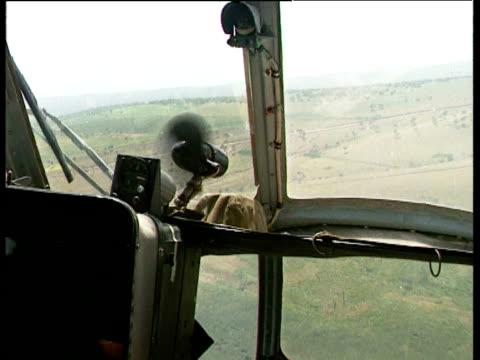 helicopter in flight during tajikistan civil war 1992 - eskapismus stock-videos und b-roll-filmmaterial