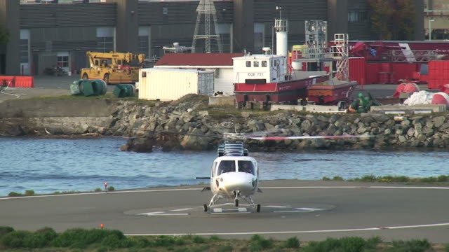 helicopter landing - helipad stock videos & royalty-free footage