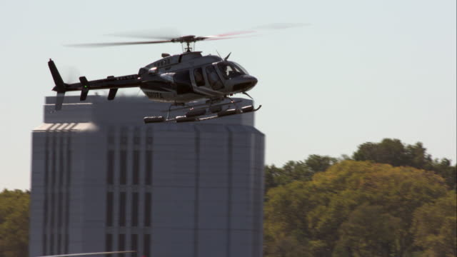 helicopter lands on helipad at seaport in new york city - helicopter landing stock videos and b-roll footage