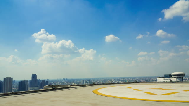 helicopter pad on top building roof - helipad stock videos & royalty-free footage