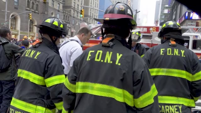 Helicopter pilot crashes when forced to make an emergency landing because of bad weather atop of the AXA Equitable Building in midtown Manhattan New...