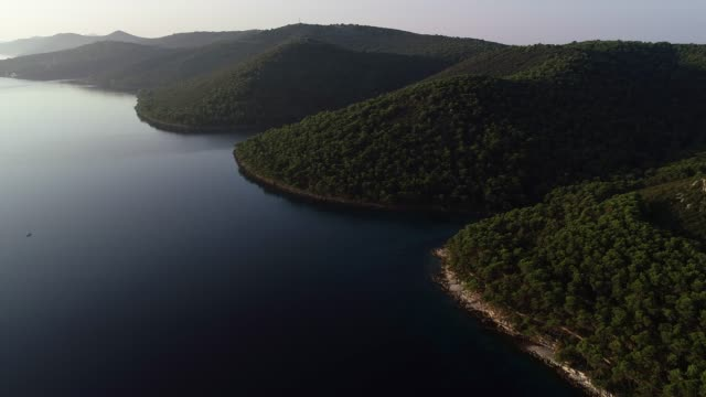 helicopter point of view on an island in adriatic sea - helicopter point of view stock videos and b-roll footage
