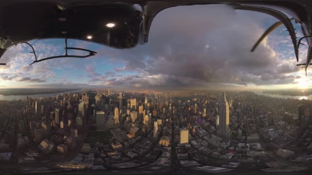Helicopter ride over central New York City