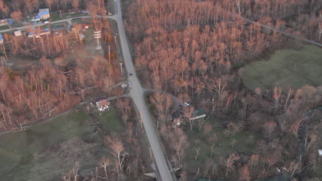 Helicopter View Of Tornado Aftermath - Housing And Forest