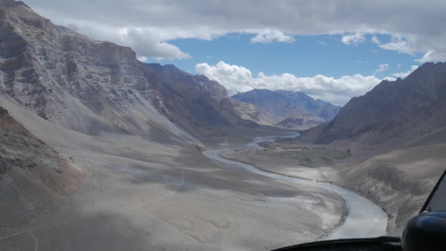 helicopter views of ladakh, india - helicopter stock videos & royalty-free footage