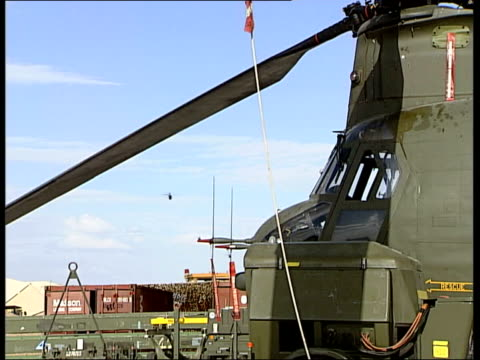 helicopters at camp bastion air field afghanistan helmand province near lashkar gah ext various shots of apache helicopters taking off from airfield... - helicopter rotors stock videos and b-roll footage