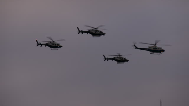 NYPD Helicopters in Formation on the Fourth of July