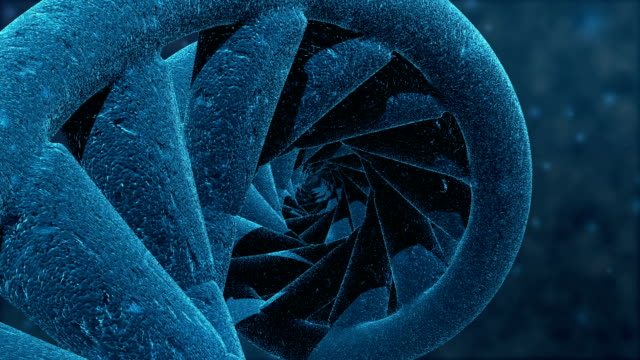 hd : 3d dna helix animation, loop-able. - helix model stock videos and b-roll footage