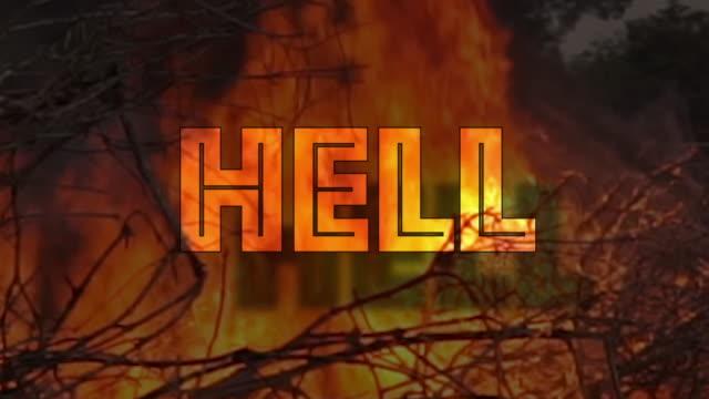 stockvideo's en b-roll-footage met hel vuur brandende concept - eeuwigheid