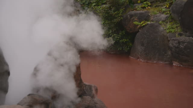 hd : hell hot springs , beppu , kyushu ,japan - oita prefecture stock videos & royalty-free footage