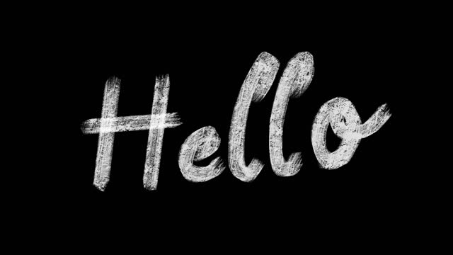 hello hand writing moving animation - illustration stock videos & royalty-free footage