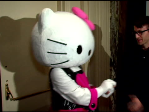 hello kitty at the bette midler's new york restoration project's 'hulaween' at the waldorf astoria in new york new york on october 31 2006 - hello kitty stock videos and b-roll footage