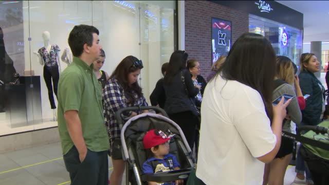 ktla hello kitty mini cafe opens in arcadia's westfield mall - hello kitty stock videos and b-roll footage