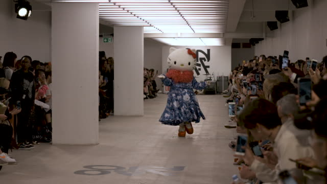 hello kitty runway at on|off lfw september 2019 at bfc show space on september 17 2019 in london england - hello kitty stock videos and b-roll footage