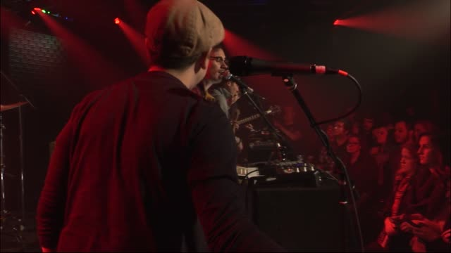 vídeos y material grabado en eventos de stock de hellogoodbye brought their indiepop sounds to the jbtv stage with their song 'and everything becomes a blur' - montaje documental