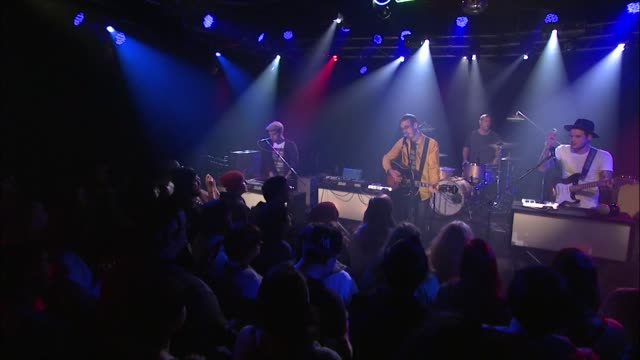 vídeos y material grabado en eventos de stock de hellogoodbye brought their indiepop sounds to the jbtv stage with their song 'the magic hour is now' - montaje documental