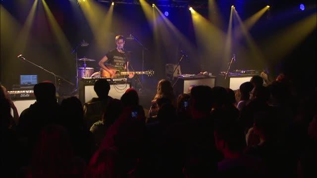 vídeos y material grabado en eventos de stock de hellogoodbye brought their indiepop sounds to the jbtv stage with their song 'when we first met' - montaje documental
