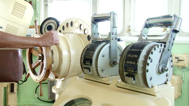 helm and engine telegraph - telegraph stock videos & royalty-free footage