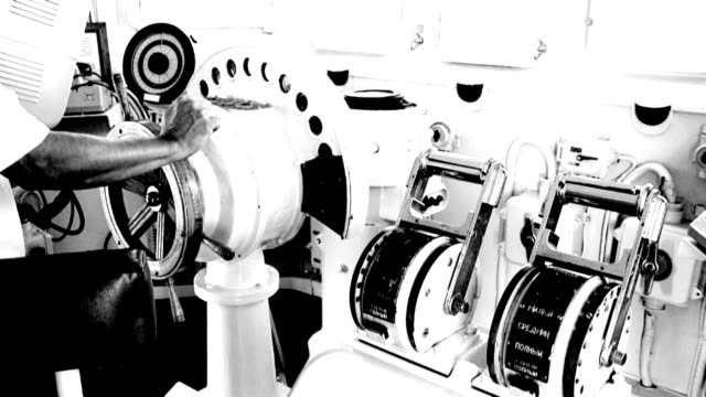 helm and engine telegraph - telegraph machine stock videos & royalty-free footage