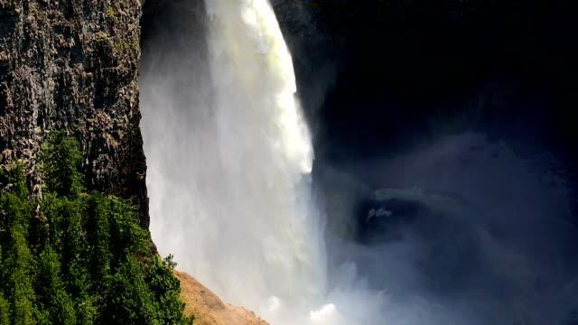 helmcken falls wells gray provincial park - 1939 stock videos & royalty-free footage