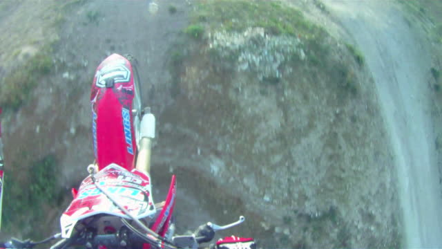 POV helmet cam view of motocross motorcycle riding. - 1920x1080