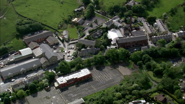 Helmshore Textile Museum And Mills  - Aerial View - England,  Lancashire,  Rossendale District helicopter filming,  aerial video,  cineflex,  establishing shot,  United Kingdom