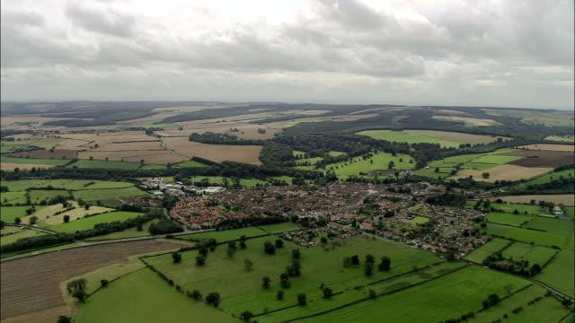 Helmsley und Duncombe Park-Luftaufnahme-England, North Yorkshire, Ryedale Bezirk, Vereinigtes Königreich