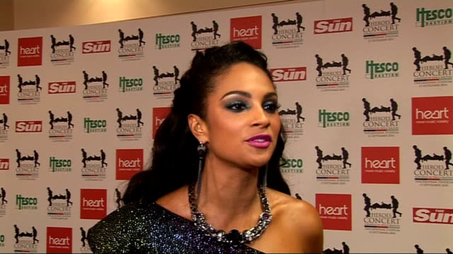 celebrity interviews Alesha Dixon posing for photocall Alesha Dixon interview SOT On opening the show great atmosphere on the cause doing her part...