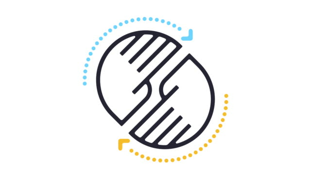 Helfen Linie Symbol Animation