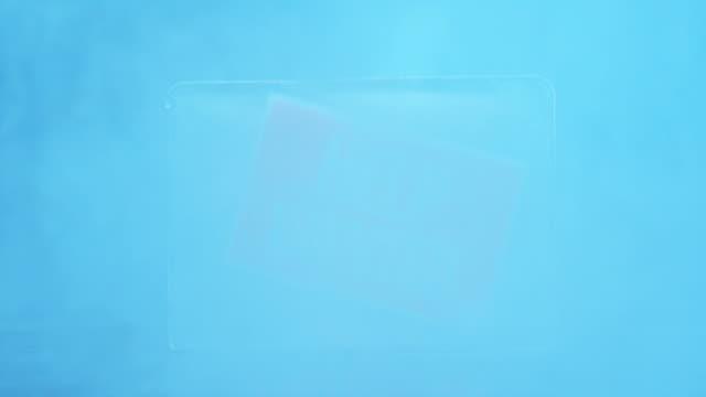 cu help wanted signboard frozen in ice block. - intoning bildbanksvideor och videomaterial från bakom kulisserna