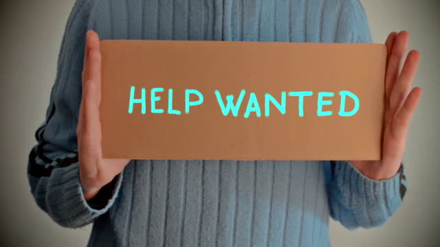 help wanted - help wanted sign stock videos and b-roll footage