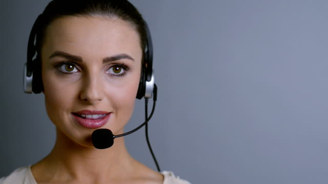 helpful telephonist - headset stock videos & royalty-free footage