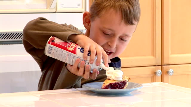 Helping son to eat healthy