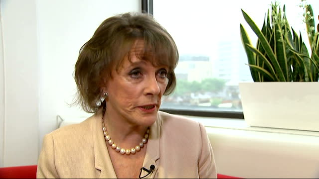 Helpline for elderly flooded with calls from lonely older people Esther Rantzen interview ENGLAND London INT Esther Rantzen interview SOT