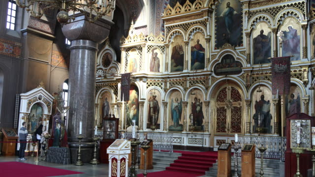 helsinki, interior view of uspenski cathedral. - cathedral stock videos & royalty-free footage